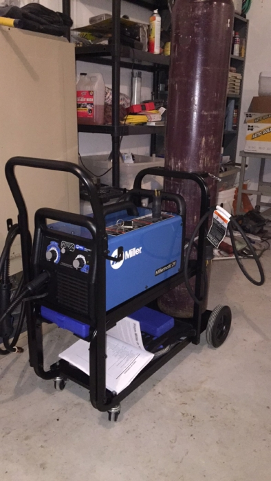 Millermatic 211 Mig Welder With Advanced Auto Set And Cart